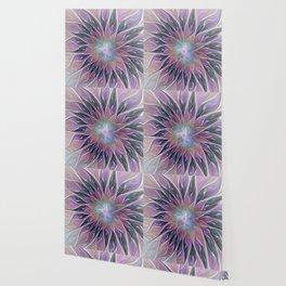 Fantasy Flower, Colorful Abstract Fractal Art Wallpaper