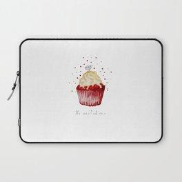watercolor red velvet muffin Laptop Sleeve
