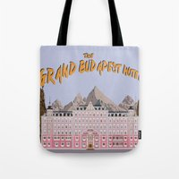 the grand budapest hotel Tote Bags featuring THE GRAND BUDAPEST HOTEL by Kaitlin Smith