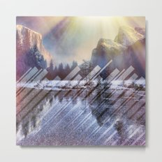 Winter Sun Rays Abstract Nature Metal Print