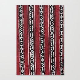 Red Arabian Pattern Canvas Print