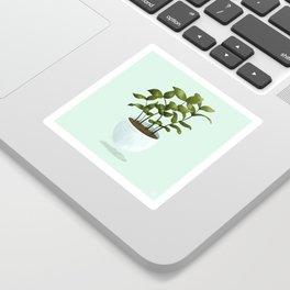 Floating Potted Plant Sticker