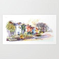 Venice Canals in California Art Print