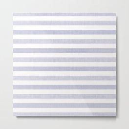 Blue n White Stripe Metal Print