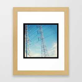 Structures In The Sky Framed Art Print