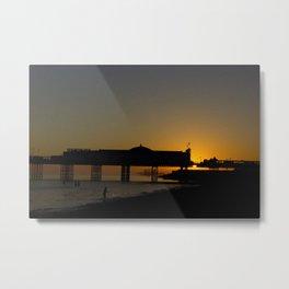 September Sunset at Brighton Pier Metal Print