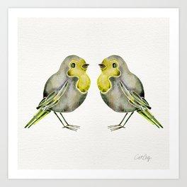 Little Yellow Birds Art Print