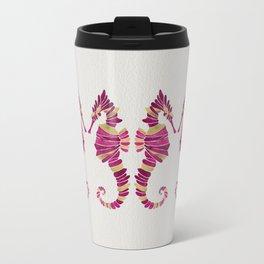 Seahorse – Pink & Gold Travel Mug
