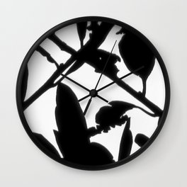 X Marks the Moon Spot Wall Clock