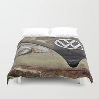 vw Duvet Covers featuring VW Indestructable by Alice Gosling
