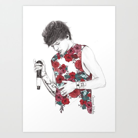 Floral Louis Art Print