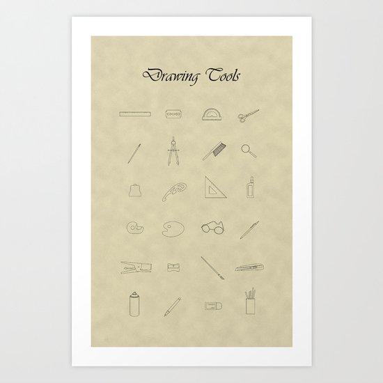 Drawing tools Art Print