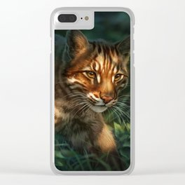 Golden Cat Clear iPhone Case