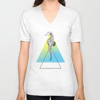 sea horse V-neck T-shirts featuring Sea horse by Carol Gomes