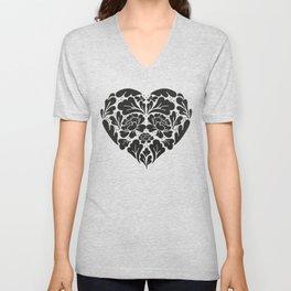 Black Heart Unisex V-Neck