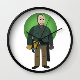 Jason Voorhees Friday the 13th Part 6 Wall Clock
