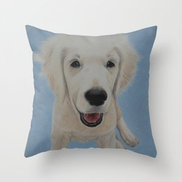 Golden Puppy Throw Pillow
