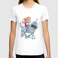 bender T-shirts featuring Adventurama/Fry and Bender by Spencer Duffy