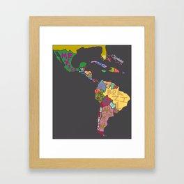 Map. Mapa. Carte. Dos! Framed Art Print
