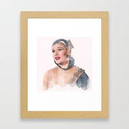 Lina Lamont - Jean Hagen - Singin' in the Rain - Watercolor Framed Art Print
