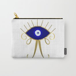 All Seeing Blue Evil Eye Carry-All Pouch