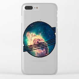 Saturn´s Space Clear iPhone Case
