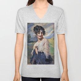 Leopold Schmutzler - Portrait of a lady - Digital Remastered Edition Unisex V-Neck