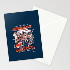 New Wave Laser Cats Stationery Cards