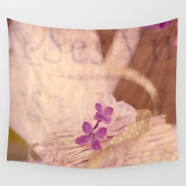 Nostalgic Lilac flower Vintage style Wall Tapestry