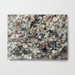 Sea glass beach in Fort Bragg Metal Print