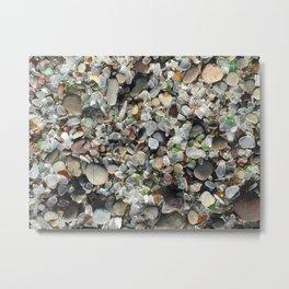 Sea glass beach in Fort Bragg Metal Print