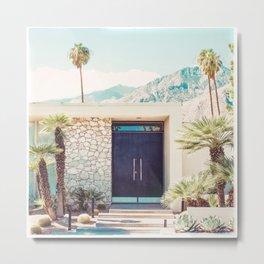Palm Springs Black Door Photography Print Metal Print