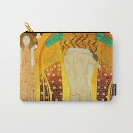 """Gustav Klimt """"The Beethoven Frieze - The quest for happiness"""" Carry-All Pouch"""