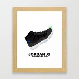 Jordan XI Space Jams Framed Art Print