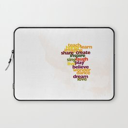 Words to Live By Laptop Sleeve