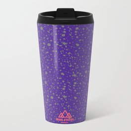 Trail Status / Mountain Purple Metal Travel Mug