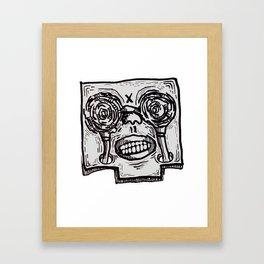 Mr. K descend into hell. Framed Art Print