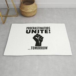 Procrastinators Unite Tomorrow Rug