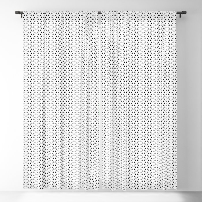 Black and White Basket Weave Shape Pattern - Graphic Design Blackout Curtain