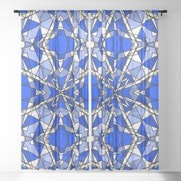 Blue Sapphire Sheer Curtain