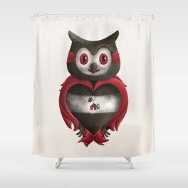 Xavier the Owl Shower Curtain