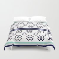 infinity Duvet Covers featuring Infinity by Bunhugger Design