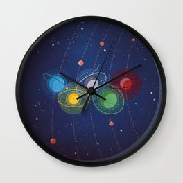 The Night Sky . Rio 2016 Wall Clock
