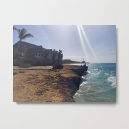 Cliffside Bungalow Metal Print