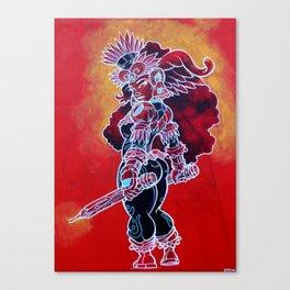 Coyo Roja Canvas Print