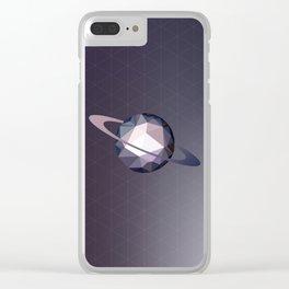 Geometric Saturn Clear iPhone Case