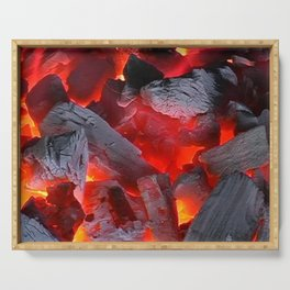 Glowing Coals Serving Tray