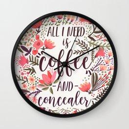 Coffee & Concealer – Vintage Palette Wall Clock
