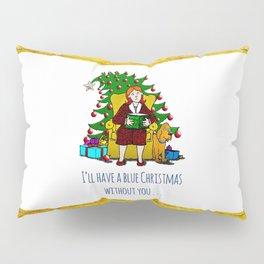 A Blue Christmas Pillow Sham
