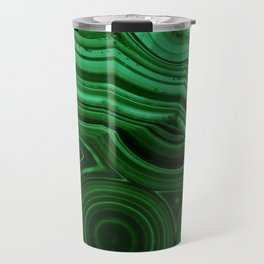 GREEN MALACHITE STONE PATTERN Travel Mug